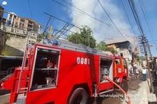 Пожар, вспыхнувший на улице Антараин, был потушен: пострадавших нет