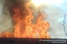About 40 bales of hay burnt in Geghhovit village