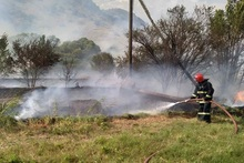 Firefighters extinguished fires broken out in the area of about 50 ha in total