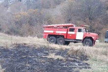 Fire on Hatsavan-Geghadir roadway