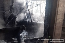 Пожар в городе Иджеван