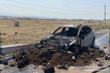 Сгорели салон и двигатель автомобиля