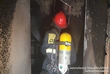 Fire in Haghtanak district of Yerevan city