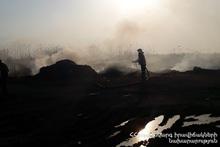 About 30 ha of grassland burnt