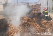 About 200 bales of hay burnt in Spandaryan village