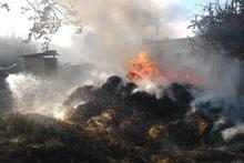 Բագրատաշեն գյուղում այրվել է անասնակեր