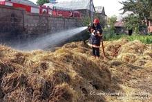 В городе Севан сгорел фураж