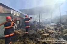 Пожар в селе Нор Хачакап