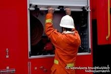 Пожар в Детско-юношеском центре города Спитак