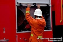Пожар в городе Абовян
