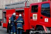 Пожар в квартале Исаакян города Ереван