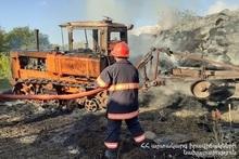 Пожар в селе Ахлатян