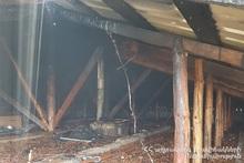 Пожар в селе Ехегнут