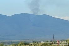 Пожар, вспыхнувший на склоне горы Ара, потушен