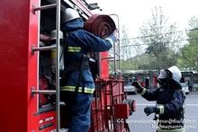 В городе Веди сгорело около 750 тюков сена