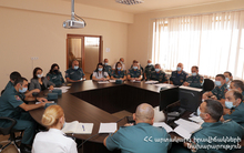 """Actions of the MES employees in case of collapse of the """"Nahatak"""" tailings dam"""