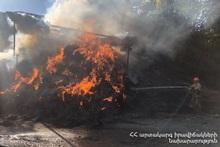Fire in Aghnjadzor village
