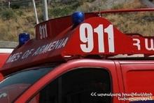 Fire in Armavir town