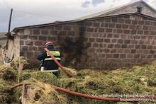 Fire in Sarnaghbyur village