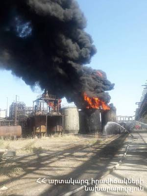 Пожар на химзаводе «Наирит» в Ереване: жертв и пострадавших нет
