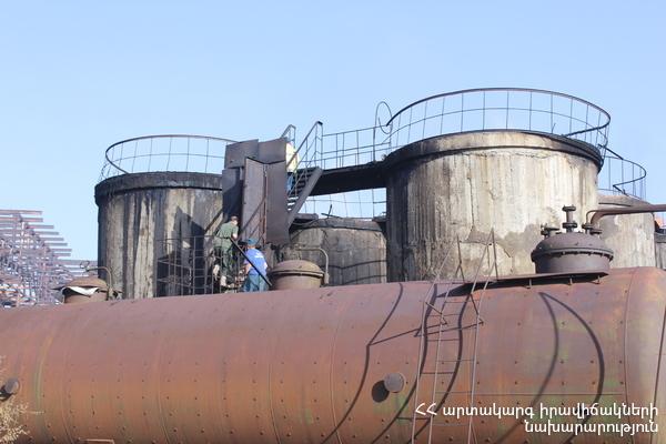 Д. Карапетян: Благодаря работе пожарников на заводе «Наирит» в Ереване удалось избежать непредсказуемых последствий